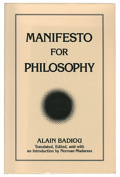 Manifesto For Philosophy